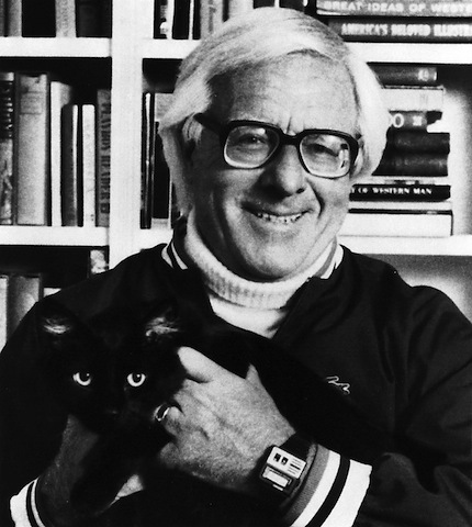 Ray Bradbury, library lover.