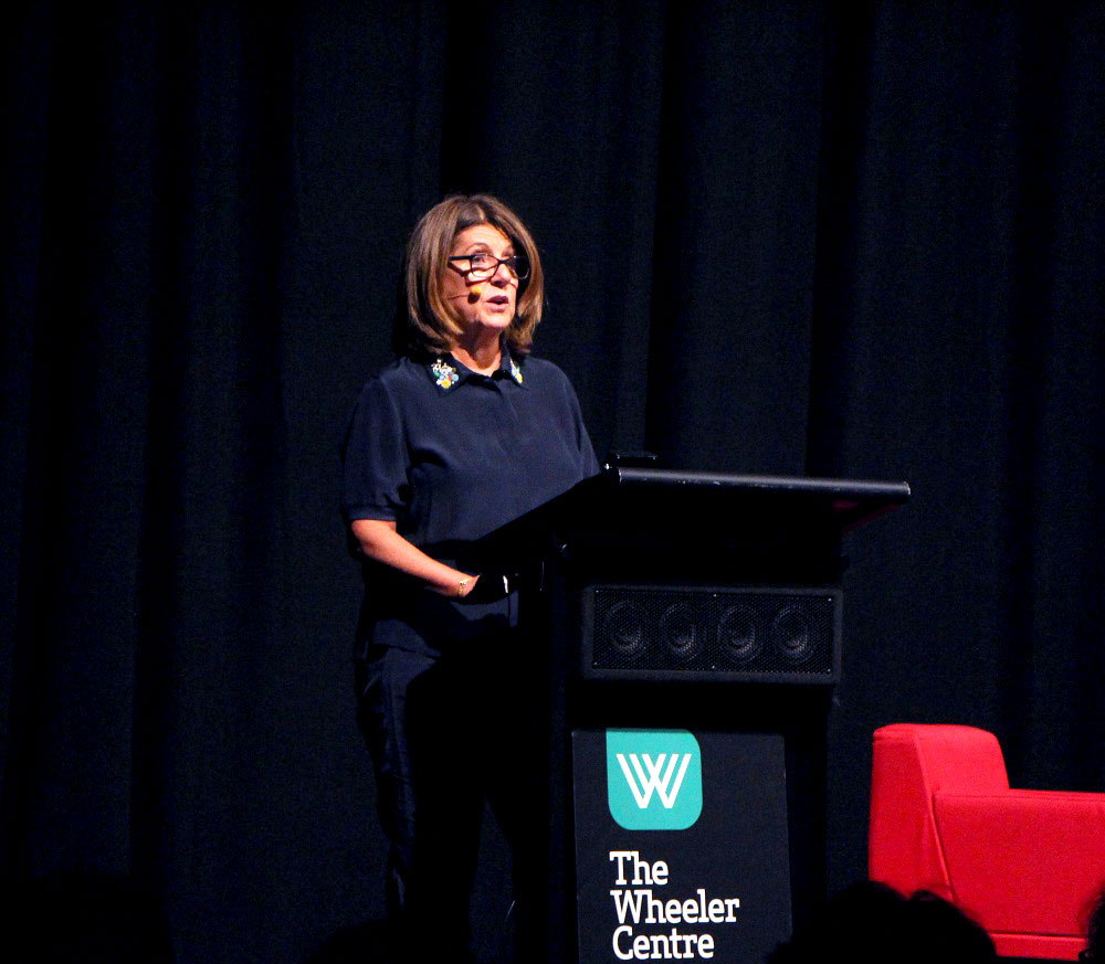 Caroline Wilson delivers the inaugural F Word Address