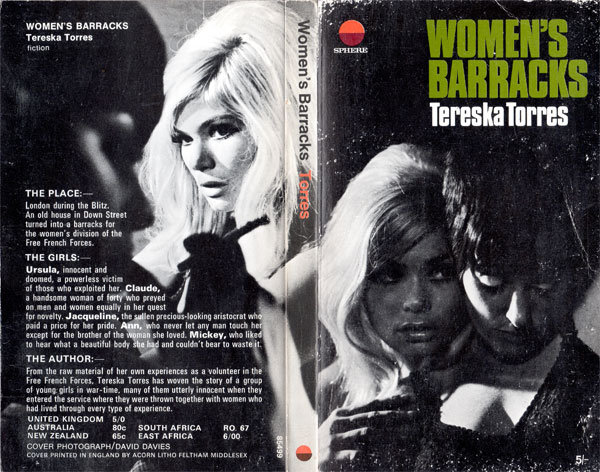 Book cover: Women's Barracks by Tereska Torres