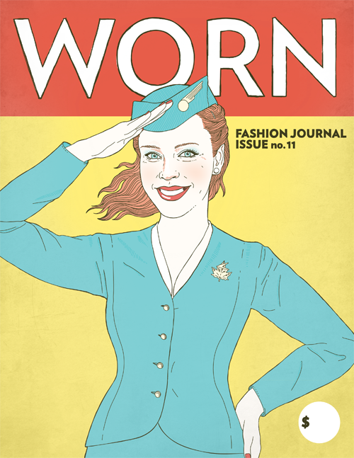 A cover of *Worn* fashion journal. 'Fashion has often been relegated to being a woman's domain, something historically not deemed worthy of critical thought,' says its editor.
