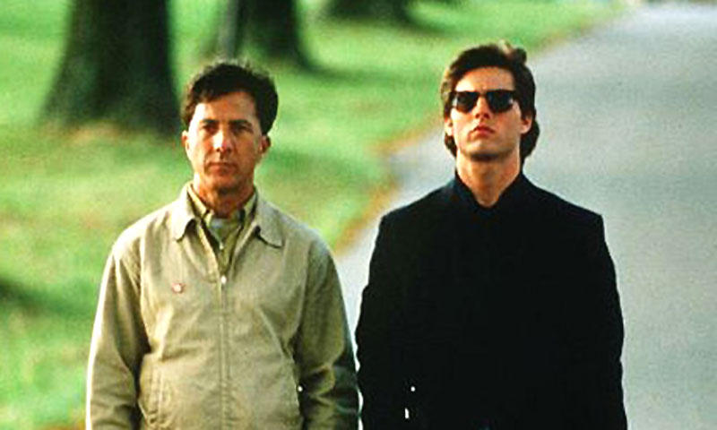 Image from *Rainman*. 'I wanted us to identify with Dustin Hoffman, as it were. I thought it was really important to be inside Don's head.