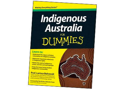 Image: Book cover, 'Indigenous Australia for Dummies' by Larissa Behrendt