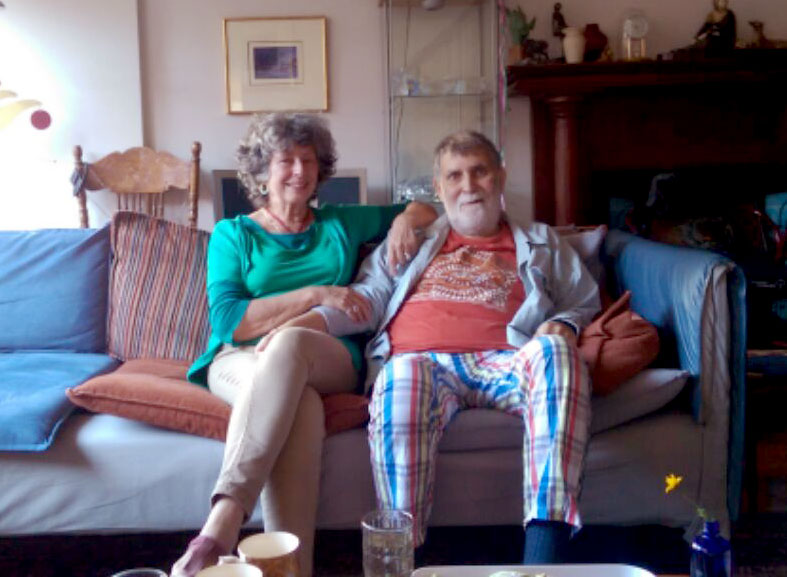 Photo of Sandra Morris and Albert Leonzini (credit: Emily Sexton)
