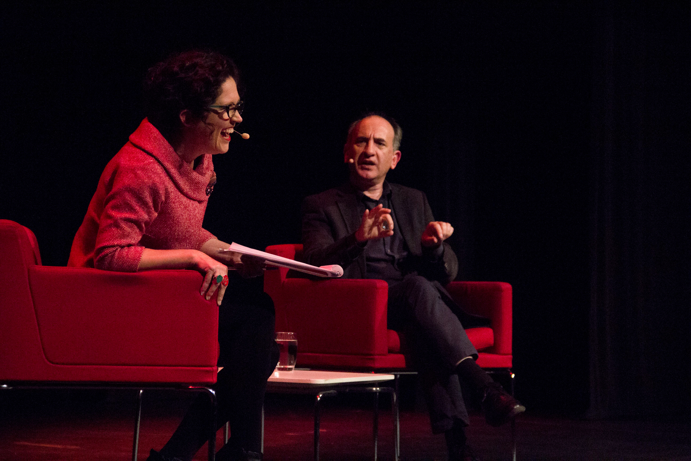 Photo of Annabel Crabb and Armando Iannucci