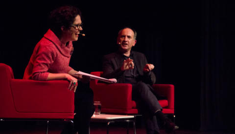 Promo image for Armando Iannucci in Conversation with Annabel Crabb