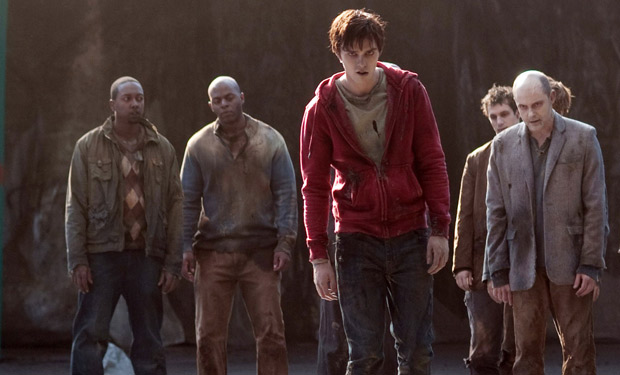 Nicholas Hoult and friends in zombie apocalypse rom-com *Warm Bodies*.