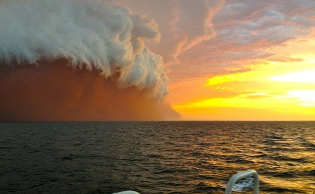 Cyclone Narelle, photographed off the coast of WA.