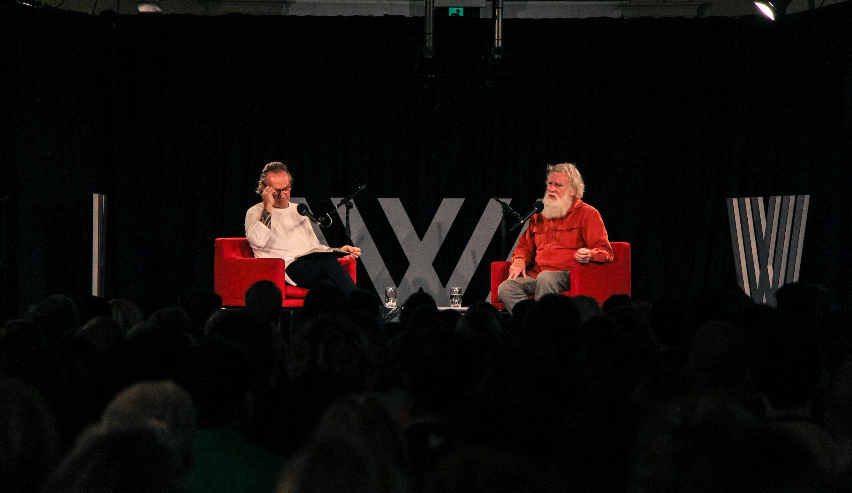 Photo of Tony Birch and Bruce Pascoe