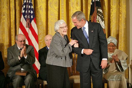 Image: Harper Lee receives the Presidential Medal of Freedom in 2007