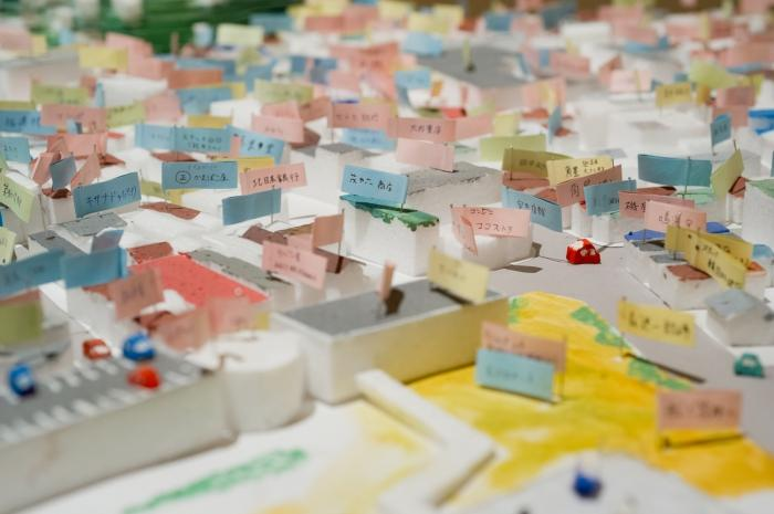 Image: Memory flags in a model of the Lost Homes Project
