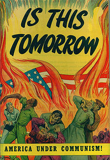 Cover of a 1947 propaganda comic book, via Wikipedia