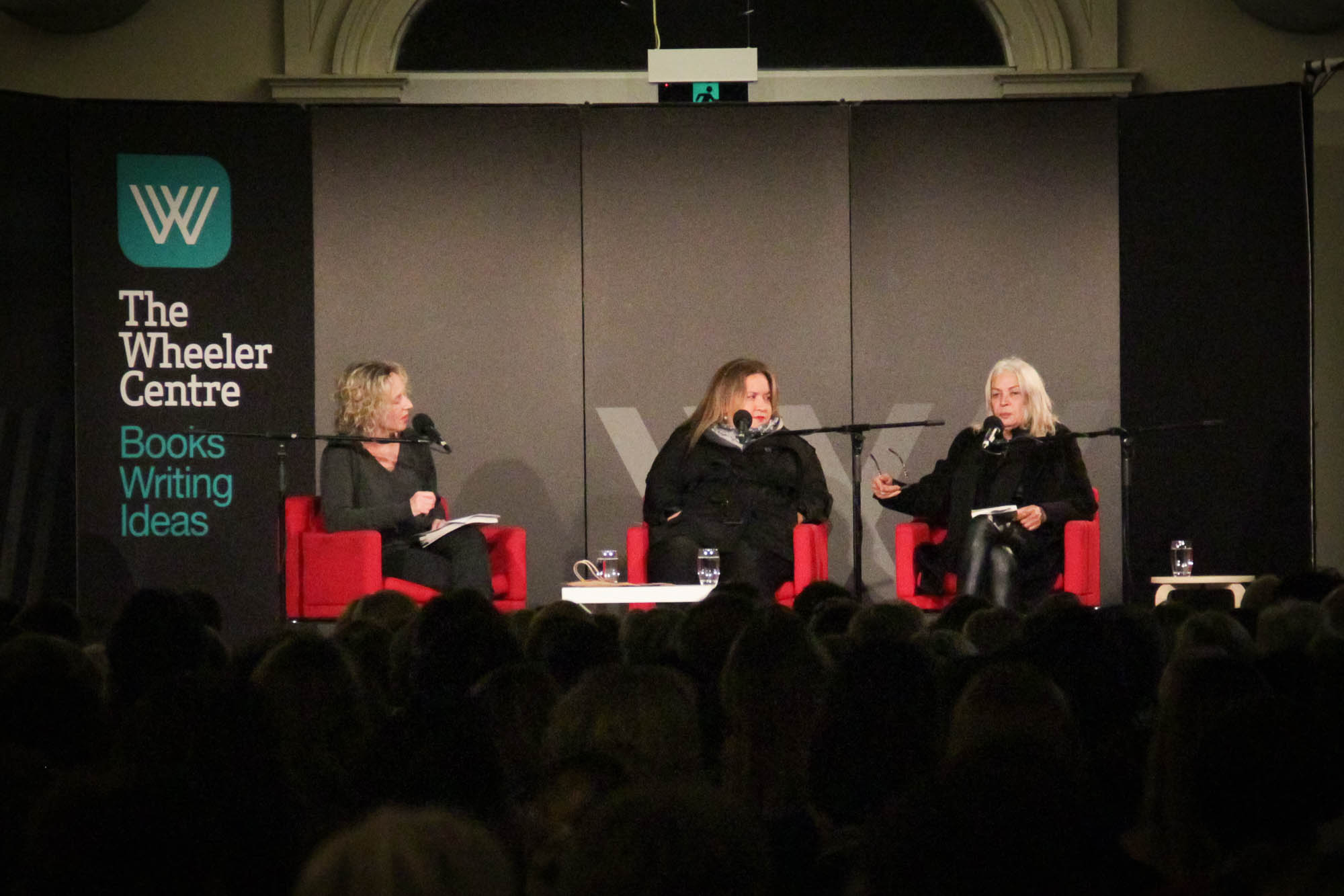 Photo: Sally Warhaft, Megan Davis and Marcia Langton