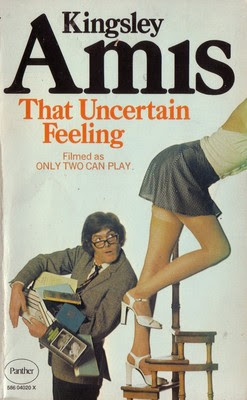 This cover doesn't seem to fit the title: the man dropping his books all over the place seems pretty certain about his feeling, and it doesn't seem complicated.