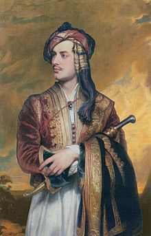 Lord Byron in Albanian dress, by Thomas Phillips, 1813, collection of the British Embassy, Athens, via Wikipedia