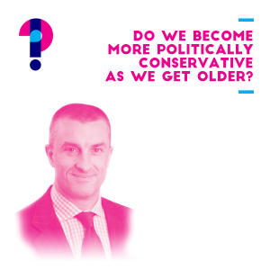 Promo image for Do we become more politically conservative as we get older? Tom Elliott