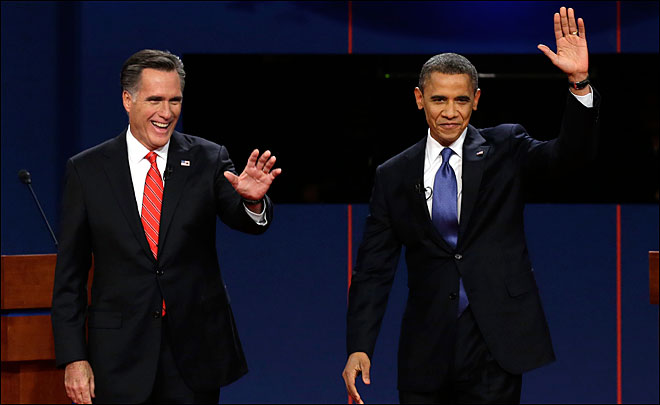 Obama spectuacularly lost to Romney in the first debate, and won the next two by narrow margins.