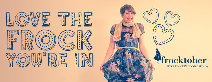'With Frocktober, people follow via social media to see the daily frock.'