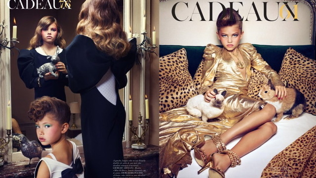 Ten-year-old Thylane Blondeau in *Paris Vogue*