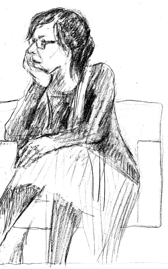 WH Chong's sketch of unconferencer Alison Croggon