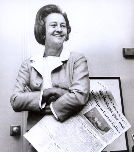 Katharine Graham: Guided the Post through two of the most celebrated episodes in American journalism, and was the first woman to run a Fortune 500 company.