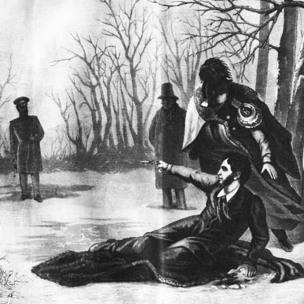 Illustration of the duel that killed Russian poet Alexander Pushkin via WikiCommons