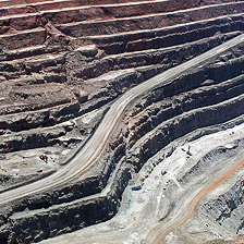 Detail of an image of Kalgoorlie's super-pit gold mine (the biggest man-made hole in the world) courtesy Kate Raynes-Goldie/Flickr