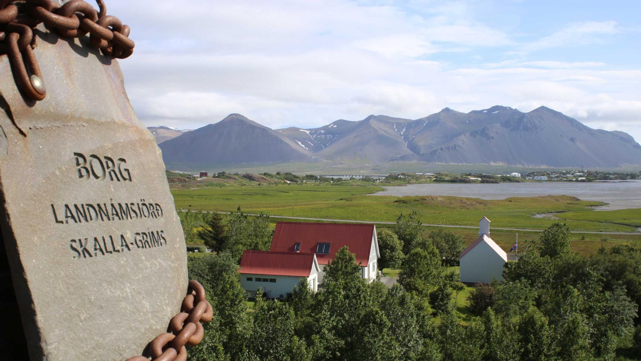 Richard and Kári travelled to Borg in mid-western Iceland – home base of Egil the Viking in the sagas (Photo: Richard Fidler)