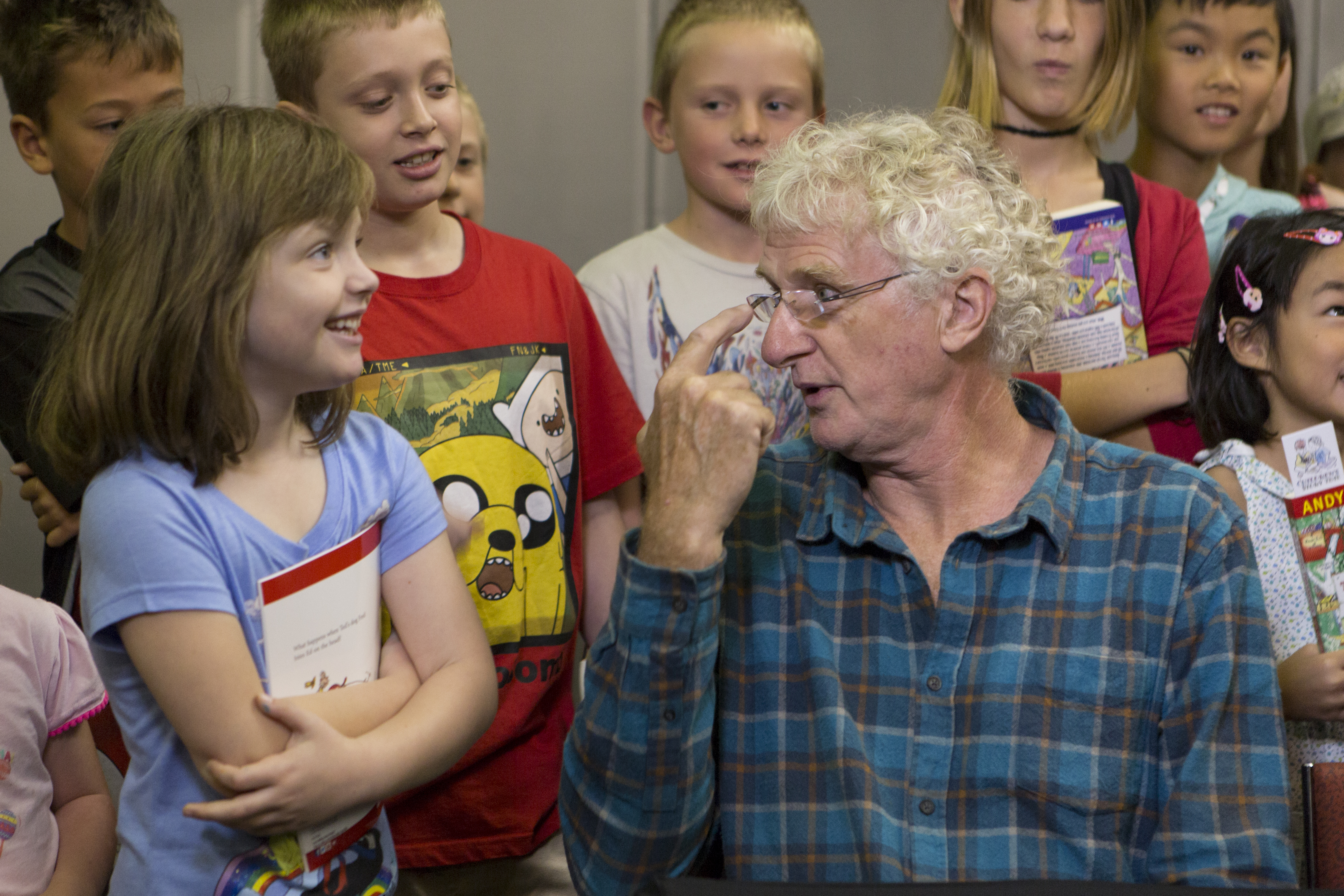 Image: Meeting Terry Denton. (Teagan Glenane)