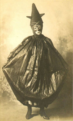 Image from 'Haunted Air', a collection of photographs of late 19th century/early 20th century American folk Halloween costumes published by Random House