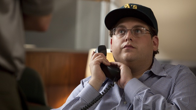 Jonah Hill as Peter Brand (based on Paul DePodesta) in Moneyball