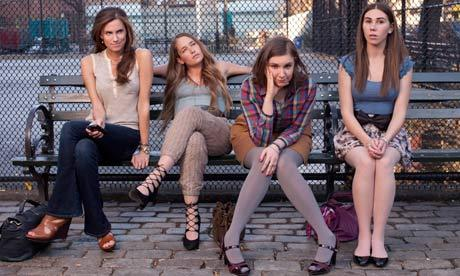 The cast of *Girls*, the most written-about show of the moment.