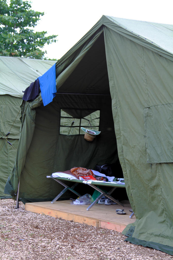 Image: Tent in detention camp