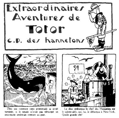 Detail of a mural drawn by a 15 year-old Hergé of Totor, a progenitor of Tintin, via the World Scout Bureau