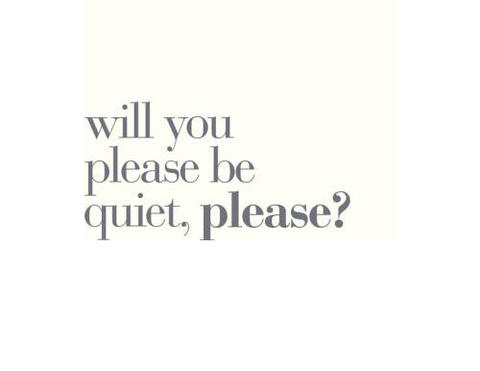 will you please be quiet please the wheeler centre