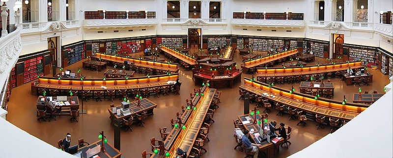 The State Library of Victoria's reading room