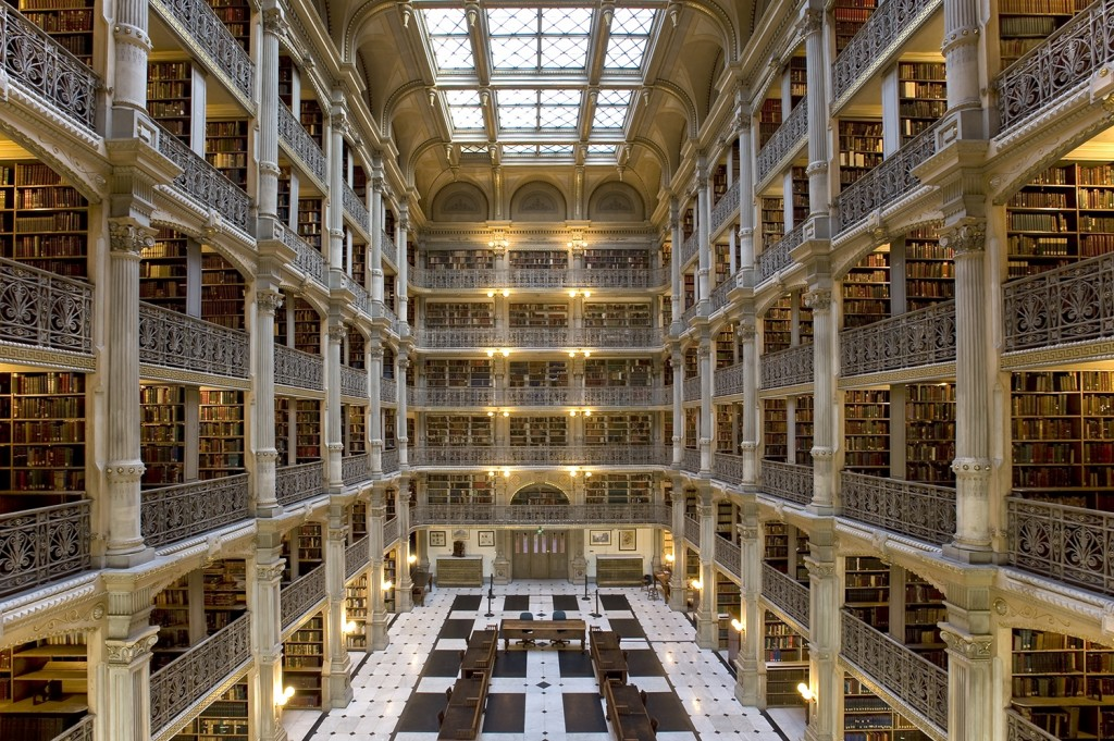 Baltimore's Peabody Library, courtesy Friends of the Johns Hopkins University Libraries