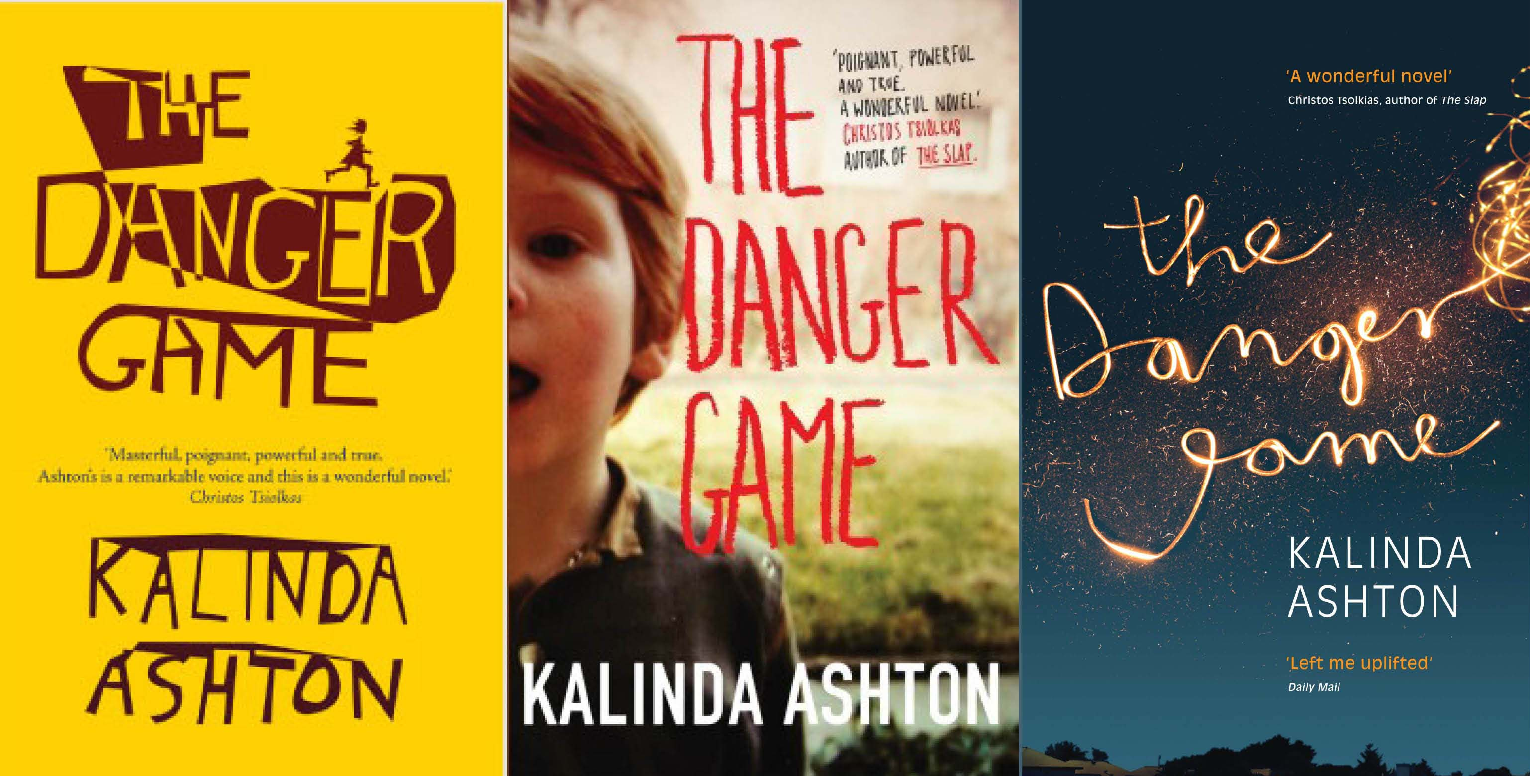 Covers for *The Danger Game* (left to right): Australian, original UK & UK second edition paperback