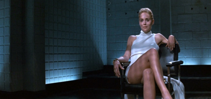 Sharon Stone in *Basic Instinct*.