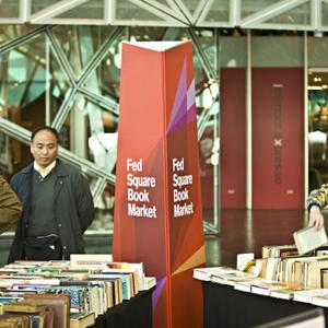 Promo image for Fed Square Book Market Event - Voiceworks Live
