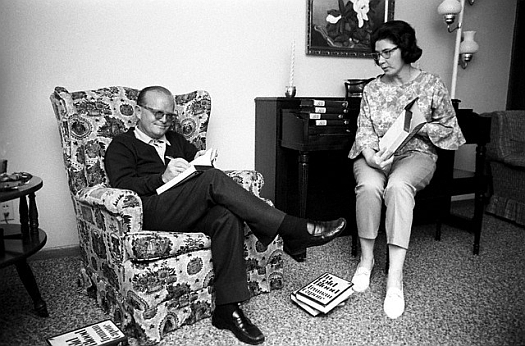 Image: Harper Lee with childhood friend Truman Capote
