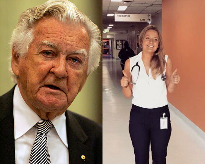 Photos of Bob Hawke and Heather Bell