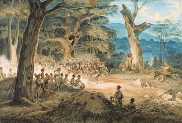 *A South Australian Corroboree* (1864) by WR Thomas, from the collection of the Art Gallery of South Australia. *(Source: WikiCommons)*