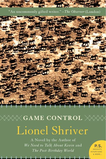 The eventual cover of *Game Control*, as negotiated by Lionel Shriver.