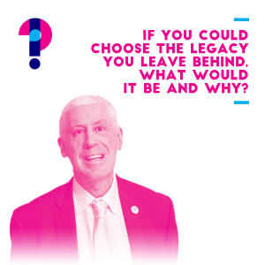 Promo image for If you could choose the legacy you leave behind, what would it be and why? Graeme Innes