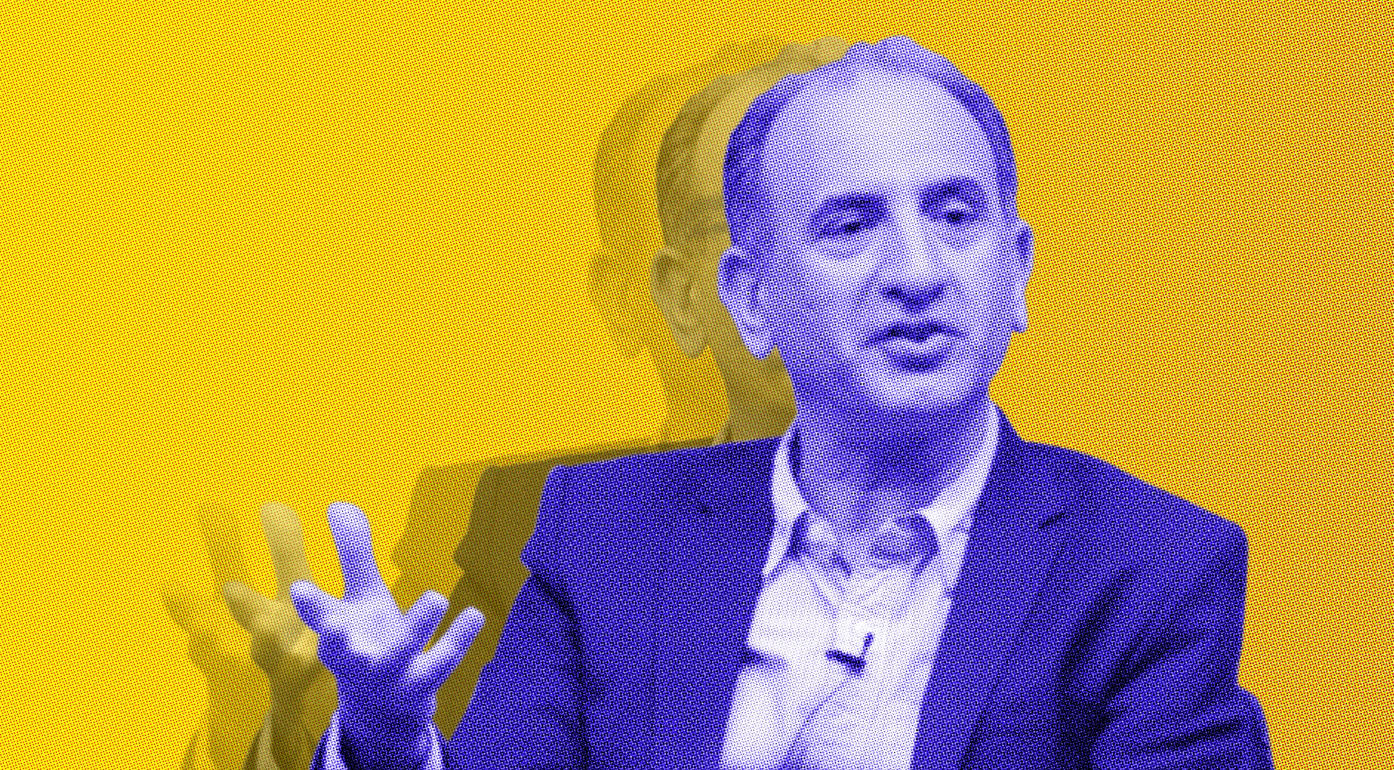 Illustration of Armando Iannucci, based on an original image CC-BY-2.0 Chatham House