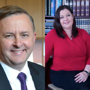 Promo image for Word for Word Non-Fiction Festival: Anthony Albanese and Karen Middleton in Geelong