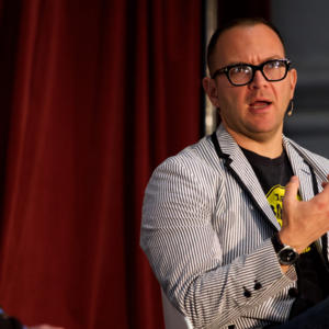 Cover image for of What is the best way to destroy the internet before it destroys us? Cory Doctorow and Alan Brough