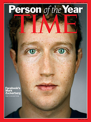 Mark Zuckerberg on the Time cover