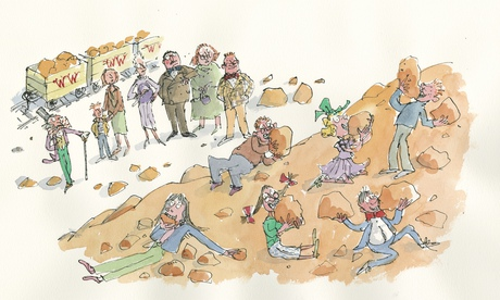 Quentin Blake's new illustration for the 'lost' chapter of *Charlie*.