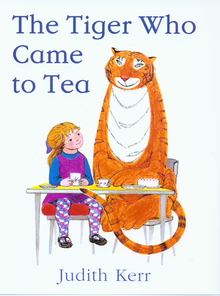 Judith Kerr's The Tiger Who Came to Tea: a staff favourite.